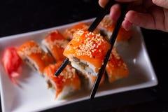 Ιαπωνικό πιάτο σουσιών Στοκ Εικόνα