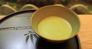 Ιαπωνικό πράσινο τσάι σε Hokokuji σε Kamakura φορητό απόθεμα βίντεο