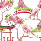 ιαπωνικό πρότυπο άνευ ραφή&sigmaf Στοκ φωτογραφίες με δικαίωμα ελεύθερης χρήσης