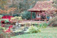 Ιαπωνικό σπίτι φθινοπώρου Στοκ φωτογραφία με δικαίωμα ελεύθερης χρήσης
