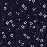 Ιαπωνικό σχέδιο ανθών κερασιών στο μπλε υπόβαθρο Στοκ φωτογραφίες με δικαίωμα ελεύθερης χρήσης