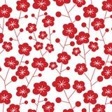 Ιαπωνικό σχέδιο δαμάσκηνων Στοκ Εικόνα