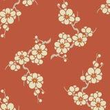 Ιαπωνικό σχέδιο λουλουδιών ανθών δαμάσκηνων Στοκ φωτογραφία με δικαίωμα ελεύθερης χρήσης