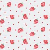 Ιαπωνικό σχέδιο φραουλών Στοκ Εικόνες