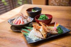 Ιαπωνικό σύνολο τροφίμων ύφους Στοκ εικόνες με δικαίωμα ελεύθερης χρήσης