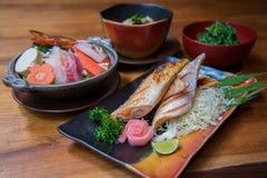 Ιαπωνικό σύνολο τροφίμων ύφους Στοκ Φωτογραφίες