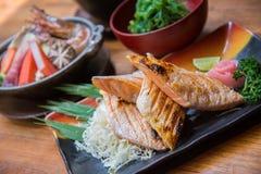Ιαπωνικό σύνολο τροφίμων ύφους Στοκ Εικόνες