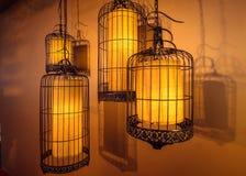 Ιαπωνικό τετραγωνικό φως λαμπτήρων στο εστιατόριο Στοκ Φωτογραφία
