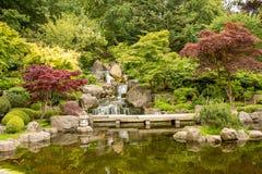 Ιαπωνικό τοπίο κήπων - κήποι του Κιότο στοκ εικόνα