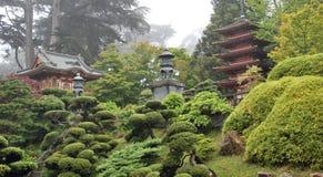 Ιαπωνικό τοπίο κήπων τσαγιού στο χρυσό πάρκο πυλών, Σαν Φρανσίσκο ΗΠΑ Στοκ Φωτογραφίες