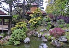Ιαπωνικό τοπίο κήπων τσαγιού στο χρυσό πάρκο πυλών, Σαν Φρανσίσκο, ΗΠΑ Στοκ φωτογραφίες με δικαίωμα ελεύθερης χρήσης