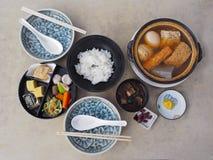 Ιαπωνικό υγιές σύνολο τροφίμων Στοκ Εικόνα