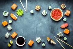 Ιαπωνικό υπόβαθρο σουσιών Στοκ Εικόνα