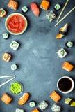 Ιαπωνικό υπόβαθρο σουσιών Στοκ φωτογραφία με δικαίωμα ελεύθερης χρήσης
