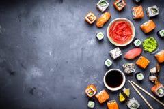 Ιαπωνικό υπόβαθρο σουσιών Στοκ Φωτογραφίες