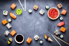 Ιαπωνικό υπόβαθρο σουσιών Στοκ εικόνα με δικαίωμα ελεύθερης χρήσης