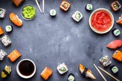 Ιαπωνικό υπόβαθρο σουσιών Στοκ φωτογραφίες με δικαίωμα ελεύθερης χρήσης