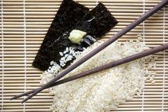 Ιαπωνικό υπόβαθρο τροφίμων Στοκ Εικόνες