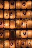 Ιαπωνικό φεστιβάλ υποβάθρου τοίχων postlamp Στοκ εικόνα με δικαίωμα ελεύθερης χρήσης