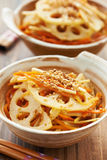 Ιαπωνικό φυτικό kinpira πιάτων Στοκ Φωτογραφία