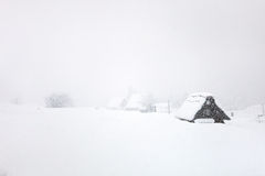 Ιαπωνικό χωριό στο χειμώνα Στοκ φωτογραφία με δικαίωμα ελεύθερης χρήσης
