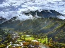 Ιαπωνικό χωριό στοκ φωτογραφία