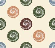 Ιαπωνικό ύφος σημείων Πόλκα σχεδίων ομπρελών άνευ ραφής Στοκ Εικόνα