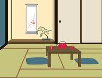 ιαπωνικό δωμάτιο παραδοσ& Στοκ Φωτογραφία