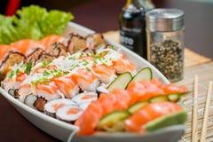 Ιαπωνικό combo τροφίμων Στοκ εικόνες με δικαίωμα ελεύθερης χρήσης