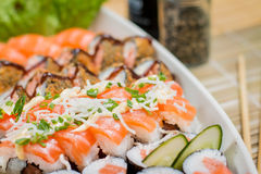 Ιαπωνικό combo τροφίμων Στοκ Εικόνα