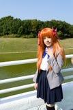 Ιαπωνικό cosplay κορίτσι χαρακτήρα anime Στοκ εικόνα με δικαίωμα ελεύθερης χρήσης