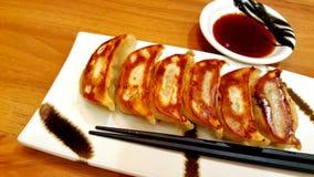 Ιαπωνικό gyoza ποσού τροφίμων αμυδρό Στοκ φωτογραφία με δικαίωμα ελεύθερης χρήσης