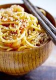 ιαπωνικό noodles yakisoba Στοκ Εικόνες