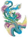 Ιαπωνικό Peacock διανυσματική απεικόνιση