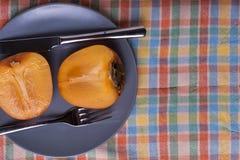 Ιαπωνικό persimmon μήλων †« Στοκ Φωτογραφίες