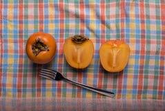 Ιαπωνικό persimmon μήλων †« Στοκ εικόνες με δικαίωμα ελεύθερης χρήσης