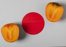 Ιαπωνικό persimmon μήλων †« Στοκ Εικόνες