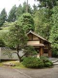Ιαπωνικό teahouse στον ιαπωνικό κήπο Στοκ φωτογραφίες με δικαίωμα ελεύθερης χρήσης
