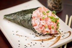 Ιαπωνικό temaki τροφίμων Στοκ φωτογραφία με δικαίωμα ελεύθερης χρήσης