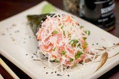 Ιαπωνικό temaki τροφίμων Στοκ εικόνες με δικαίωμα ελεύθερης χρήσης