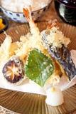 ιαπωνικό tempura γαρίδων πιάτων Στοκ Εικόνες
