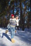 διασκέδαση πατέρων παιδιών που έχει να παίξει από κοινού Στοκ Εικόνες