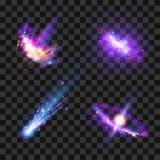 Διαστημικά αστέρια καθορισμένα Στοκ Εικόνες