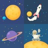 Διαστημικά εικονίδια καθορισμένα Στοκ Εικόνες