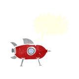 διαστημικός πύραυλος κινούμενων σχεδίων με τη λεκτική φυσαλίδα Στοκ φωτογραφία με δικαίωμα ελεύθερης χρήσης