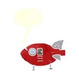 διαστημικός πύραυλος κινούμενων σχεδίων με τη λεκτική φυσαλίδα Στοκ εικόνες με δικαίωμα ελεύθερης χρήσης