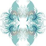 διαστημικό διάνυσμα κειμένων φυκιών θάλασσας ζωής απεικόνισης ψαριών αντιγράφων φυσαλίδων Στοκ Εικόνα
