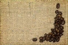 διαστημικό κείμενο προσανατολισμού τοπίων αντιγράφων καφέ φασολιών ανασκόπησής σας Στοκ Εικόνες