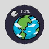 Διαστημικό σχέδιο εικονιδίων Στοκ φωτογραφία με δικαίωμα ελεύθερης χρήσης