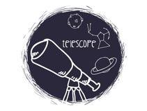 Διαστημικό σχέδιο εικονιδίων Στοκ Φωτογραφίες